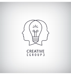 creative mind logo group vector image