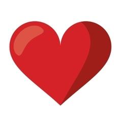 cute red heart love romantic symbol vector image vector image