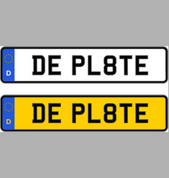 germany number plate vector image vector image