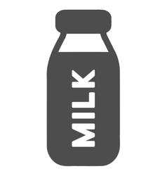 Milk bottle flat icon vector