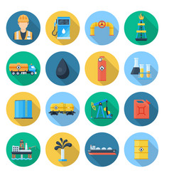 oil and gas industry set vector image vector image