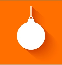 Abstract christmas ball on orange background vector image vector image