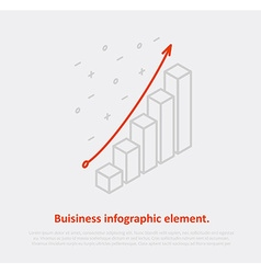 business infographic element isometric eps 10 vector image