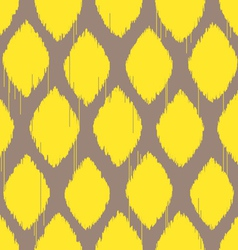 ikat lemon yellow pattern vector image vector image