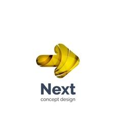 Next arrow logo business branding icon vector