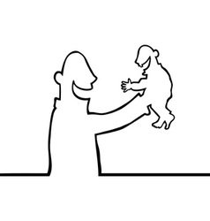 person holding baby vector image
