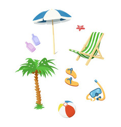 Summer time accessory vector