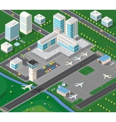 3D isometric industrial vector
