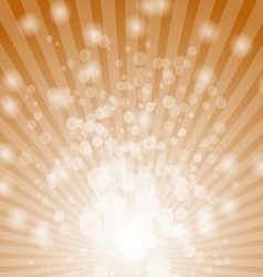 Abstract bokeh on orange background vector image