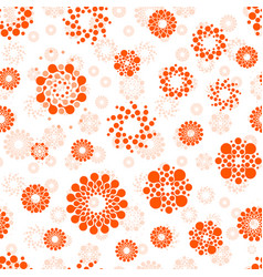 abstract suns seamless circles design pattern vector image