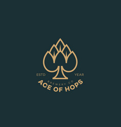Ace hops logo vector
