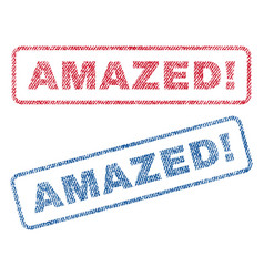 Amazed exclamation textile stamps vector