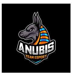 Anubis esport gaming mascot logo template modern vector
