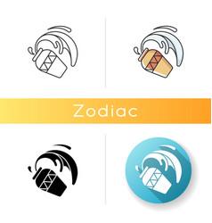 Aquarius zodiac sign icon vector
