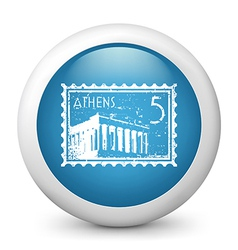 Athens Postage stamp vector image vector image