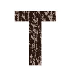 Bark letter T vector