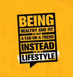 Being healthy and fit a fad or a trend instead it vector