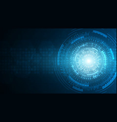 Blue abstract technology cyberspace vector