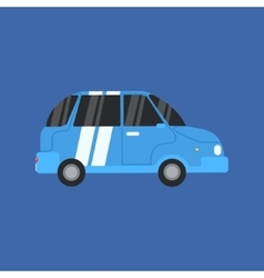 Blue Electric Car vector