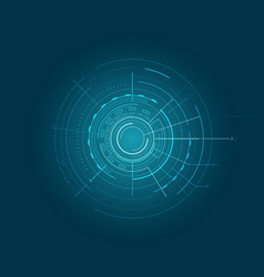 blue interface with various geometric figures vector image