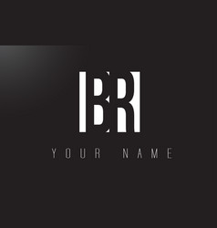 Br letter logo with black and white negative vector