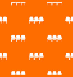 chairs in the departure hall pattern seamless vector image