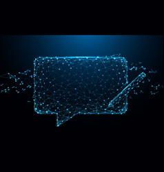 chat messages icon form lines and particle vector image