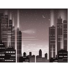 cityscape metropolis night lights of a big city vector image