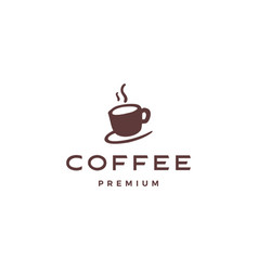 Coffee cup logo icon vector