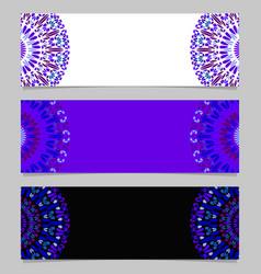 colorful horizontal abstract floral mandala vector image