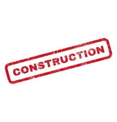 Construction Rubber Stamp vector image