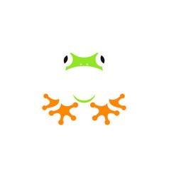cute frog logo vector image