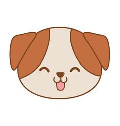 Cute funny pet cartoon vector