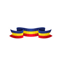 decoration ribbon in color of romanian tricolor vector image