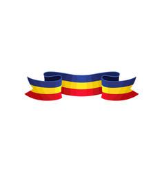 Decoration ribbon in color of romanian tricolor vector