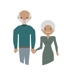 elderly couple grandparents family vector image
