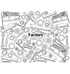 Factory colorless set vector image