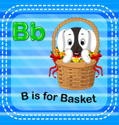 flashcard letter b is for basket vector image