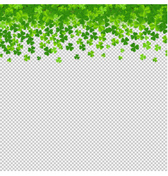 frame with clovers transparent background vector image