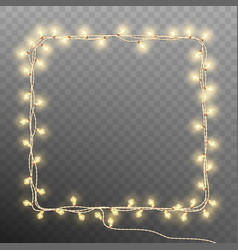 frame with vintage garlands eps 10 vector image