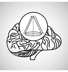 geometry brain school knowledge vector image