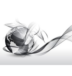 Globe in smoke vector