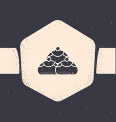 Grunge jewish sweet bakery icon isolated on grey vector