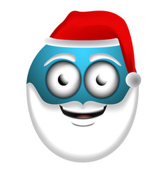 happy santa claus emoji vector image