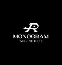 initial letter r monogram logo template vector image
