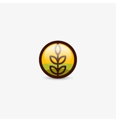 Isolated round shape abstract agricultural vector