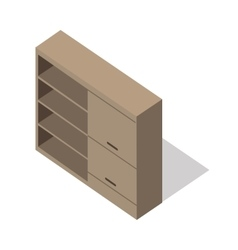 Isometric Wooden Cupboard vector image