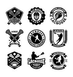 Lacrosse Badges vector image