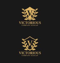 Letter v - victorious logo template vector