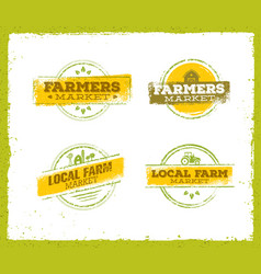 local farm logo local farm food concept local vector image